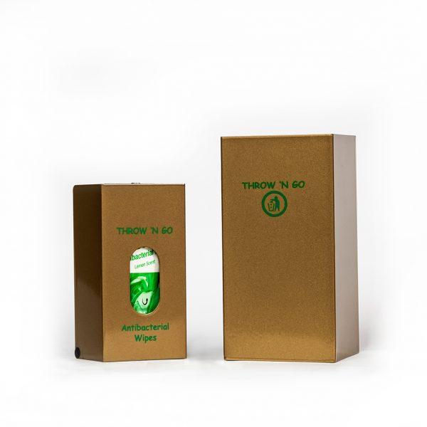 An image of our Throw 'N Go Wipe Dispenser Kit in Sunburst Gold